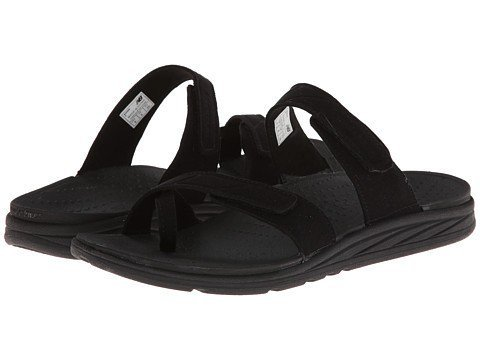 - New Balance women's Revitalign Refresh Slide Sandal,Black,5 B US