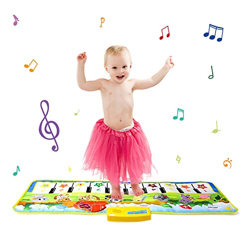 zoordo Piano Keyboard Floor Mat,Giant Multifunctional Educational Musical Mat,Portable 20 Keys Piano Keyboard Play Mat