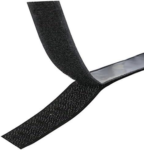 TRIXES Selbstklebende Klettbänder- Schwarz - Jeweils 1 m lang und 2 cm breit