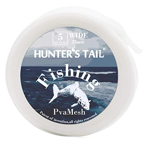 Hunter's Tail Water-Soluble Fishing Mesh, PVA Mesh Fishing Bait Mesh Bag Stocking Baits Non-Toxic No Pollution Efficient Fishing Tool ()