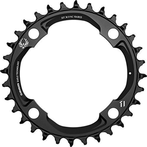 32t Thin - SRAM X-Sync 2 Eagle 12-Speed Chainring Black, 104 BCD, 32t