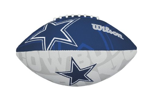 Wilson NFL Junior Team Logo Football (Dallas Cowboys)