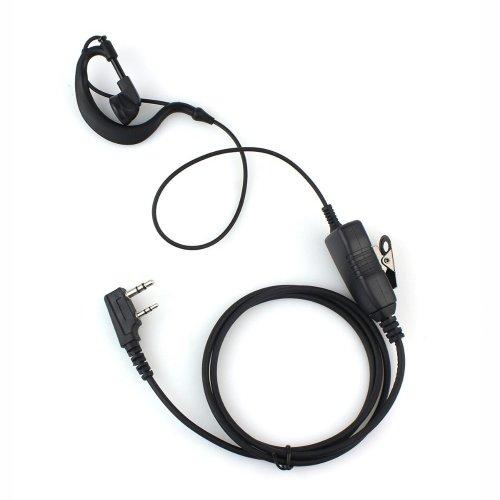 [해외]고급 G-모양 귀 걸 식 경찰 이어폰 헤드셋 PTT 마이크 2 핀 켄 우드 Kenwood Nexedge Hytera Puxing Wouxun 양방향 라디오 / Advanced G-shaped ear-hung police earphone headset PTT MIC 2 pin Kenwood Kenwood nexedge hytera puxing Wouxun bi-d...