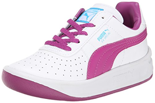 PUMA GV Special JR Sneaker (Little Kid/Big Kid) , White/Vivid Viola/Blue Atoll, 5 M US Big Kid (Puma Gv Special White)