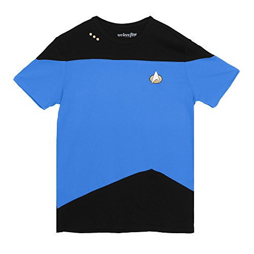 Science Blue Paneled Uniform -- Star Trek: The Next Generation T-Shirt, (Star Trek Tng Uniforms)