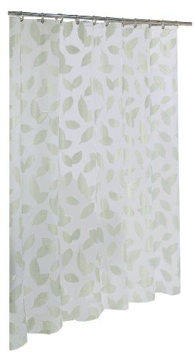 Ex-Cell Home Fashions By Appointment Modern Leaf Fly EVA Shower Curtain (Cell Shower Curtain)