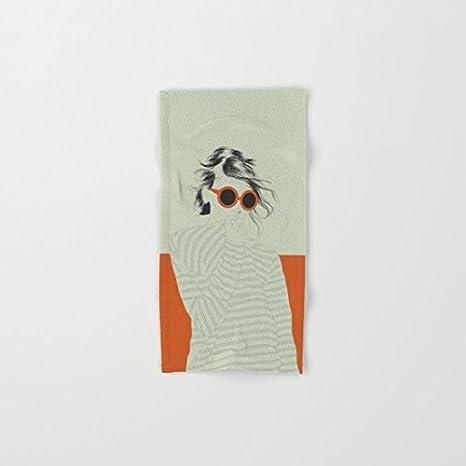 Toallas de Baño de mujer color sobre naranja Toallas de playa piscina, 20 x 40-Inch: Amazon.es: Hogar