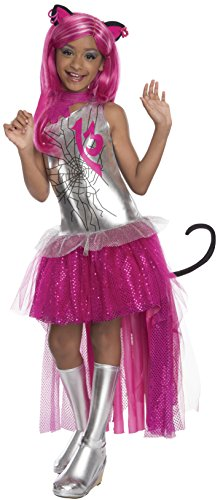 [Rubies Monster High Frights Camera Action Catty Noir Costume, Child Small] (High School Girl Halloween Costumes)
