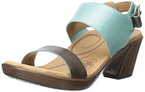 Aetrex Women's Peyton QTR STRP WDG Slide, Aqua, 39 EU/9.5 M - Aetrex Footwear