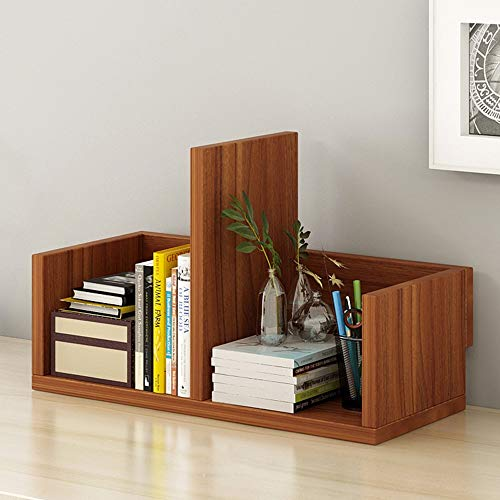 (Desktop Bookshelf Display Shelf File Book Organizer Rack for Home, Office - 3 Colors Optional Storage Unit (Color : Ancient Ebony, Size : 401726cm))
