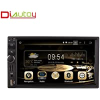 Diyauto 7 Car GPS Navigation 2 Din In-dash Android 7.1 16GB Touchscreen Mirror link WIFI Car Radio for universal with Free Map & Free Card …