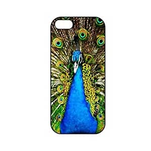 Blue Peacock Pattern Plastic Hard Case for iPhone 5/5S