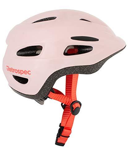 Retrospec Scout-1 Bike & Skate Helmet CPSC Approved Ages 1-10, Matte Pink, XS 45-49cm