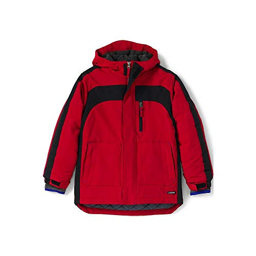 (Lands' End Boys Husky Squall Waterproof Winter Parka, M, Bright Cardinal)