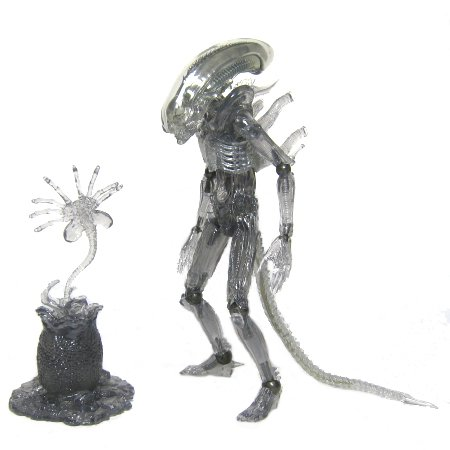 Alien Revoltech Scifi Super Poseable Action Figure #001 Alien Limited Clear Ver.