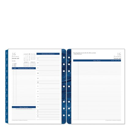 Monarch Daily - Monarch Monticello Daily Ring-bound Planner - Jan 2018 - Dec 2018