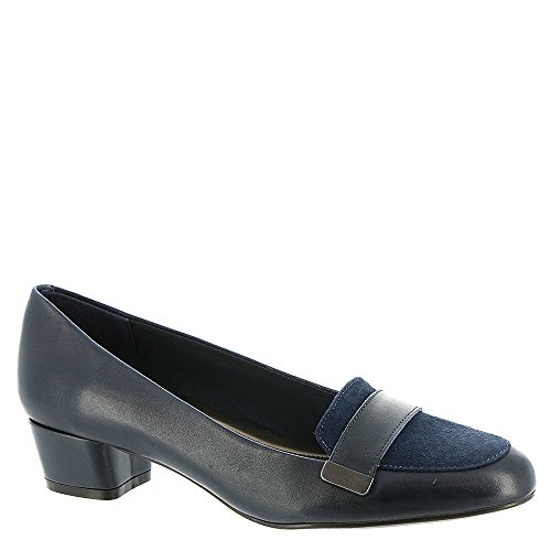 Easy Spirit Womens Ulana Leather Closed Toe Classic Pumps Navy H4Fo2vYtx