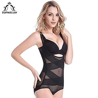 d0fe840e99 HITSAN INCORPORATION TOPMELON Women Seamless Shapewear Modeling Strap  Bodysuit Transparent Full Body Shaper Slim Girdle Waist