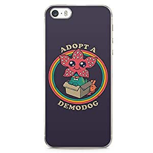 Loud Universe Adopt a Demodog Cute Stranger things iphone 5 / 5s Case Quote TV Show iphone 5 / 5s Cover with Transparent Edges
