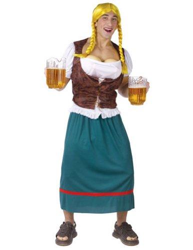 Hilarious Mens Halloween Costumes (Men's Miss Oktoberbreast Beer Girl Costume)