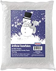 Artificial Snow 10 Ounces Fake Snow Flakes for Christmas Tree Decoration, Village Displays - Sparkling White D