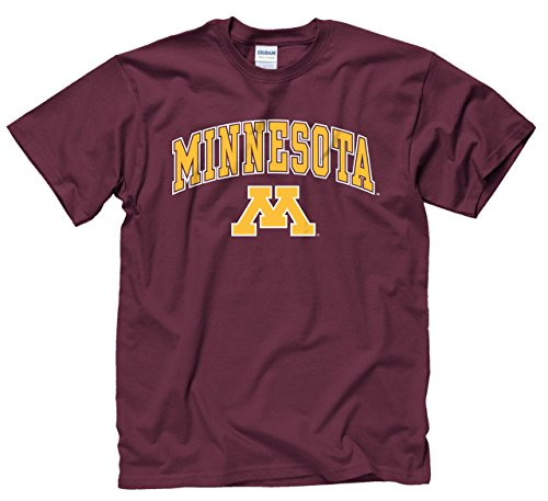 Campus Colors Minnesota Golden Gophers Adult Arch & Logo Soft Style Gameday T-Shirt - Maroon, (Minnesota Golden Gophers Apparel)