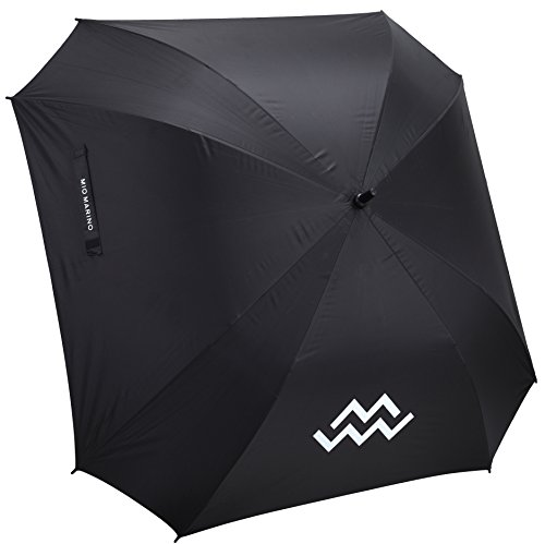 Marino Golf Umbrella Windproof - 62 inch Extra Large - Square Unbreakable Rain Umbrella - UV Protection and Lightning Protection (Black)