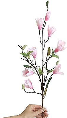SamMoSon 2019 Flor Artificial para Decoracion Blanca Centro Arreglo Orquidea Hortensia Naranja,Artificial Flores Falsas Hoja Magnolia Floral Boda Ramo ...