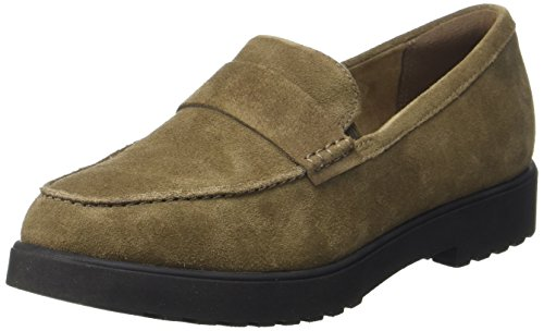 Clarks Bellevue Hazen, Mocassins (Loafers) Femme, Violett, 39 EU Marron (Olive Suede)