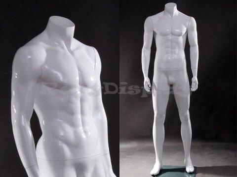 (MZ-wen4bw) Male mannequin, headless, standing -