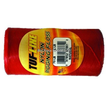 Tuf Line Nylon Rigging Floss With 30 Pound Test  649 Yard  1 4 Pound Spool  Red Finish