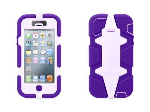 Griffin 605412-SFPL Survivor Case for iPhone 5/5S - 1 Pack - Retail Packaging - Purple/Lavender