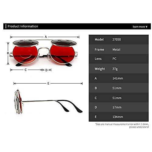 UV para Conducir C1 para Mujer de Steampunk C6 Color Gu Protección Gafas Vacaciones Estilo Verano abatibles Peggy Sol Playa 70vqpH