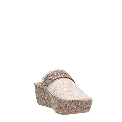 GRUNLAND - Zapatillas de estar por casa para mujer Panna/nocciola