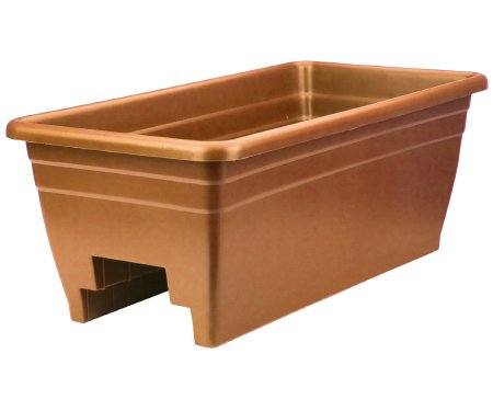 Akro Mils SPX24DB0E24 Clay Rail Planter by Myers Industries