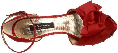 Nina Bridal Electra Scarpe con Tacco da Donna Rosso (Red)