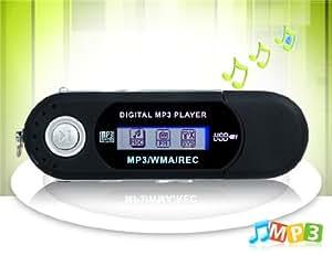 USB 2.0 MP3 Player con lector de tarjetas TF (negro)