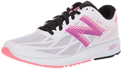 New Balance Women's 1400v6 Walking Shoe, White/Voltage Violet/Guava, 10 B US (Best Race Walking Shoes 2019)