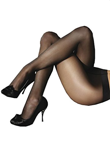 Marilyn Naked Luxe Line Pantyhose 20 Denier (Black, S) -