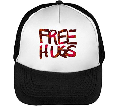 Flower Snapback Designed Negro Gorras Hombre Hugs Blanco Beisbol dwqn8CdR