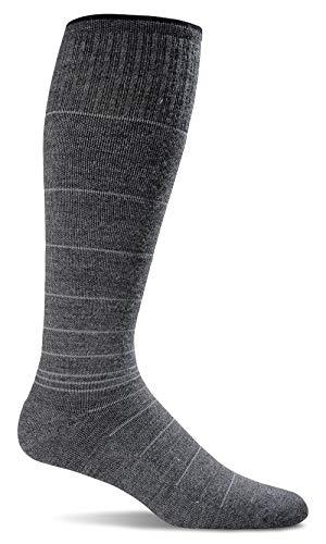 Sockwell Men's Circulator Graduated Compression Socks, Charcoal, Large/X-Large