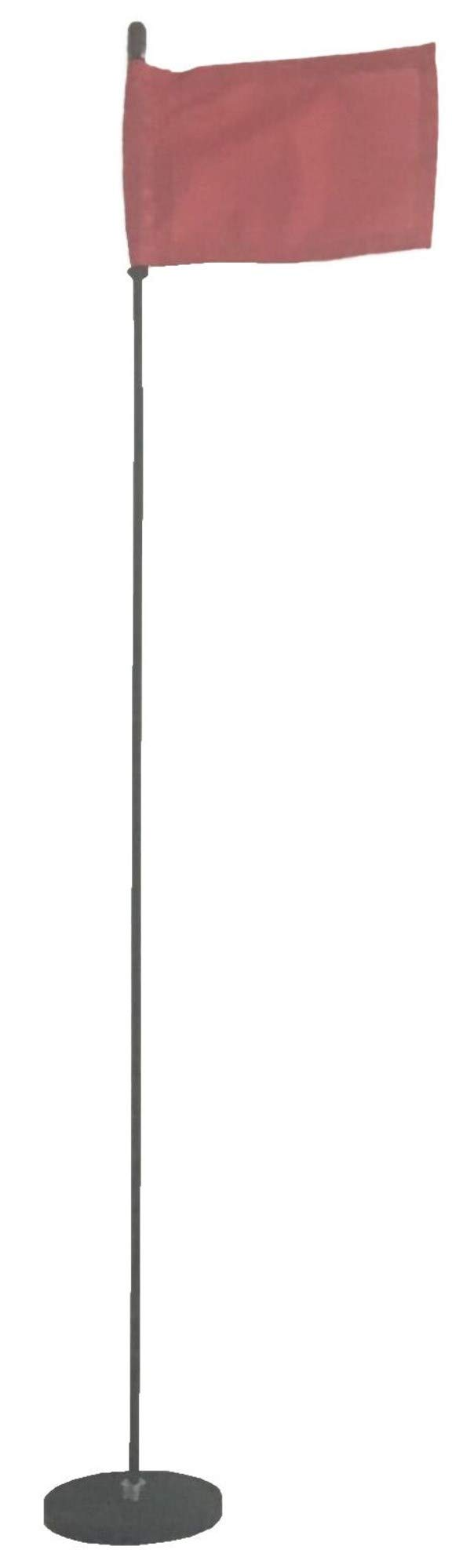 Magnetic Base Flag Holder 3 FT. Steel Pole - Hold Force 212 lbs. - 4 x 6 Red Flag