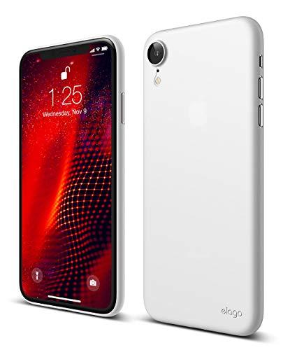 iPhone XR ケース 薄型 0.5mm 極薄 シンプル デザイン スリム ハード カバー elago INNER CORE [ Apple iPhoneXR アイホンXR アイフォンXR ] ホワイト