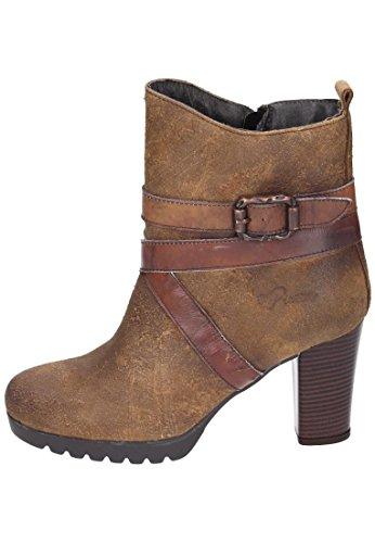 Piazza 961371 - botas de caño bajo de piel mujer marrón - Braun (Muskat/Braun)