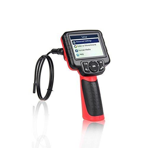 Autel Maxivideo MV400 Digital Inspection Camera Video Scope with 0.22 inches Diameter Camera Probe 5 Times Digital Zoom LED Illumination 3.5' LCD Monitor