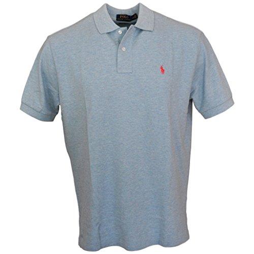 Polo Ralph Lauren Men Classic Fit Mesh Polo Shirt, Court Blue, Medium ()