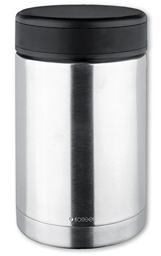 Isosteel VA-9684 17 fl. oz 18/8 Stainless Steel Double-Wall Vacuum Food Container