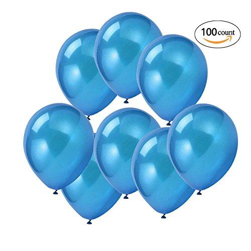 latex balloons blue - 2