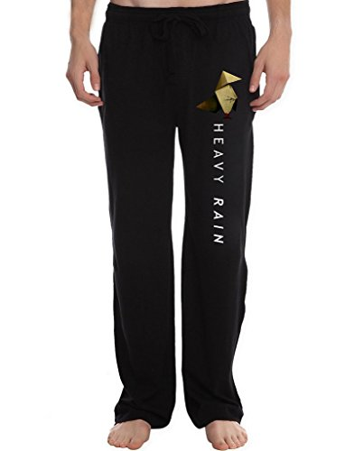 xjx-mens-heavy-rain-running-workout-sweatpants-pants-l-black
