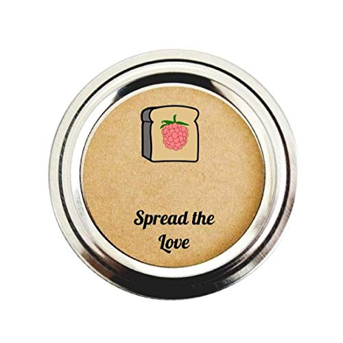 (Raspberry Jam Mason Jar Labels by Once Upon Supplies, Spread the Love Jelly Stickers for Homemade Gifts and Party Favors, 2
